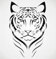 Bengal Tiger Tattoo Design vector image
