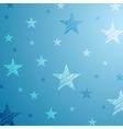 Bright blue starry background vector image