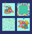 notes set with children toys vector image