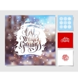 set of christmas decoration background snowflake vector image