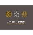 Technology development architecture game studio vector image