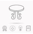 Vintage table icon Furniture desk sign vector image