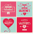 set of valentines day card design vector image