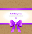 Elegant background with bow vector image vector image