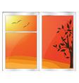 Autumn window vector image