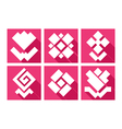 flowers geometry icons vector image