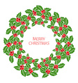 winter holidays wreath vector image