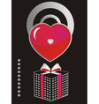 black cards with love symbols vector image