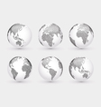 Set of abstract dotted globes vector image vector image