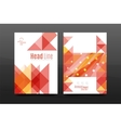 Colorful geometry design annual report a4 cover vector image vector image