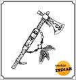 American Indians tomahawk vector image