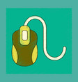 flat shading style icon computer mouse vector image
