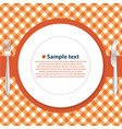 plate on the tablecloth vector image