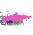 political map of russia and surrounding european vector image