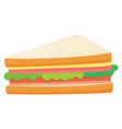 sandwiches with meat and vegetables vector image