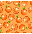 Seamless pattern with stylized fresh ripe oranges vector image