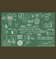 set of hand drawn business vector image