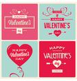 set of valentines day card design vector image