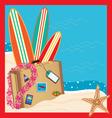 Tropical vacation invitation vector image