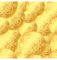 seamless coins pattern vector image