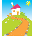 house road vector image vector image