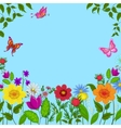 Flowers butterflies vector image
