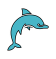 Dolphin Silhouette Outlined vector image