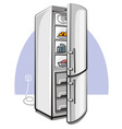 two door refrigerator vector image