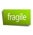 fragile green paper sign isolated on white vector image
