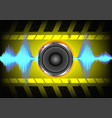 abstract background speakers and sound waves vector image