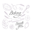 Bakery sketched in Hand vector image