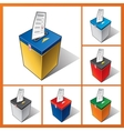 Ballot box elections vector image