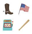 cowboy boots national flag slot machine vector image