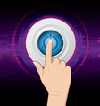 hand push power button vector image