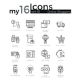Modern thin line icons set of internet shopping vector image