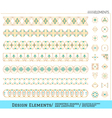 Set of geometric gold shapes vector image