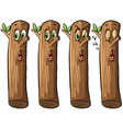 Set of logs vector image