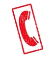 Phone Receiver Icon Rubber Stamp vector image