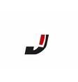 Letter j logo icon vector image