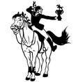rider winner black white vector image vector image