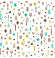 tribal hand drawn background ethnic seamless vector image