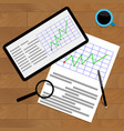 economic graphic on desk vector image