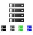 server rack flat gradient icon vector image