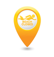 shark sighting icon yellow map pointer vector image