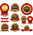 set of 100 guarantee golden labels vector image