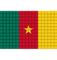The mosaic flag of Cameroon vector image