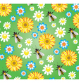 bees and flowers vector image