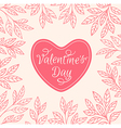 Decorative floral background with heart vector image