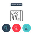 dental x-ray line icon isolated on white vector image