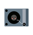 kawaii music dj party turntable technology vector image